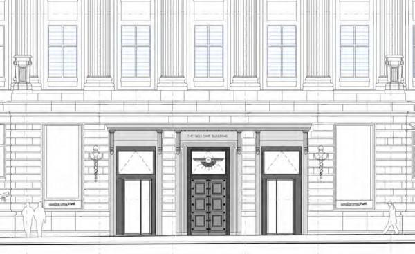 Wellcome Institute new entrances
