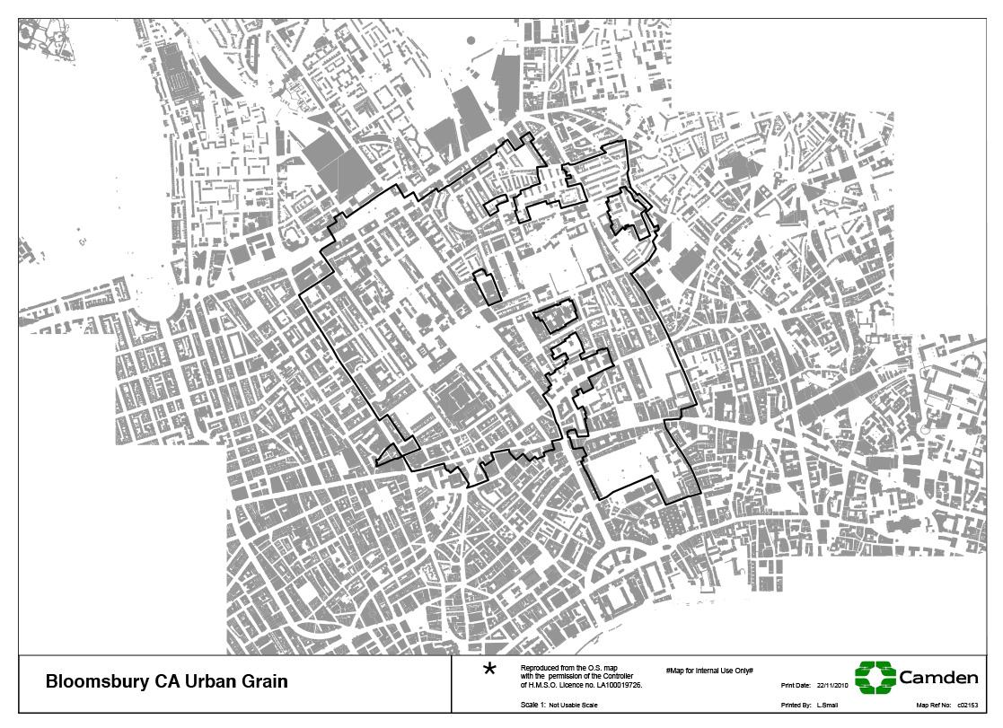 Bloomsbury Conservation Area Map - Urban Grain