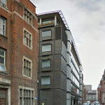 The building to the North of the Royal Ear Hospital to which the proposed new scheme will relate.