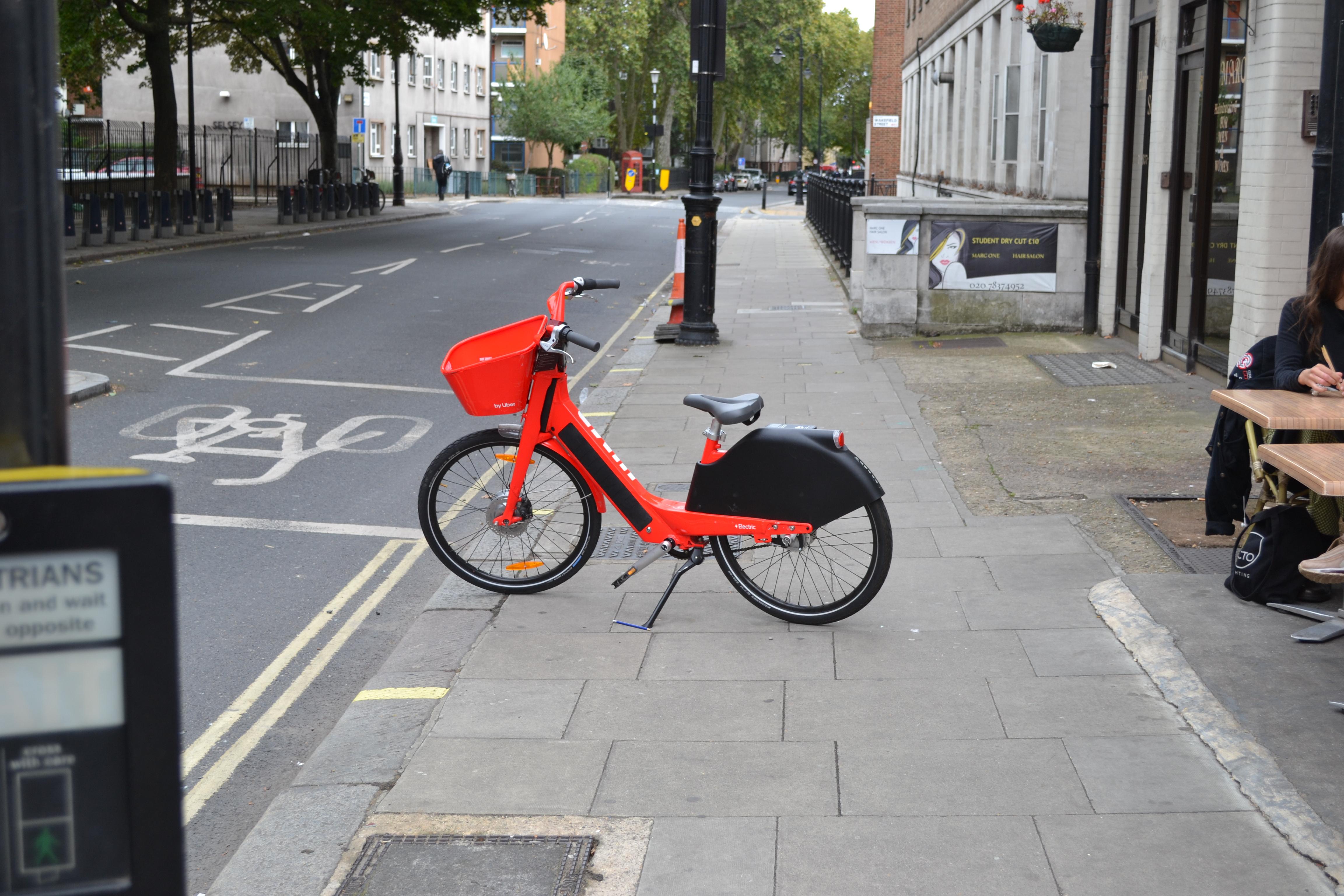 Dockless Bicycles on Tavistock Place, Bloomsbury