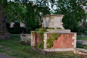 A tomb in St George's Gardens, Bloomsbury