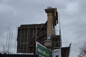 Former Royal Free Hospital partially demolished