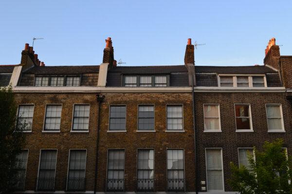 Georgian terraces on Doughty Street